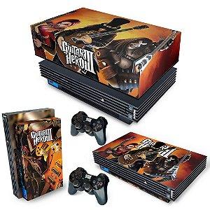 KIT PS2 Fat Skin e Capa Anti Poeira - Guitar Hero III 3