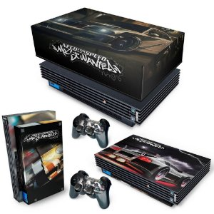 KIT PS2 Fat Skin e Capa Anti Poeira - Need for Speed: Most Wanted