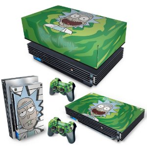 KIT PS2 Fat Skin e Capa Anti Poeira - Rick And Morty