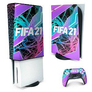 KIT PS5 Skin e Capa Anti Poeira - FIFA 21