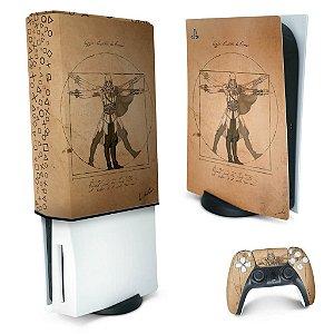 KIT PS5 Skin e Capa Anti Poeira - Assassin'S Creed Vitruviano