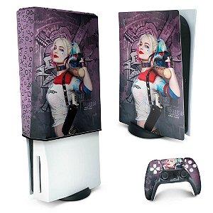 KIT PS5 Skin e Capa Anti Poeira - Arlequina Harley Quinn