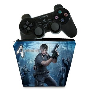 Capa PS2 Controle Case - Resident Evil 4