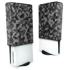 Capa PS5 Anti Poeira - Camuflado Cinza
