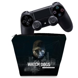 Capa PS4 Controle Case - Watch Dogs