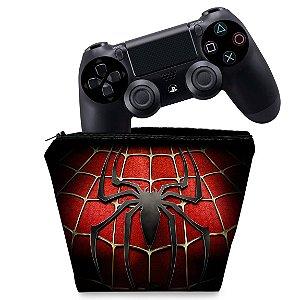 Capa PS4 Controle Case - Spider Man - Homem Aranha