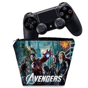 Capa PS4 Controle Case - The Avengers - Os Vingadores