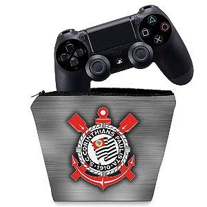 Capa PS4 Controle Case - Corinthians