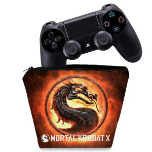 Capa PS4 Controle Case - Mortal Kombat