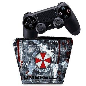Capa PS4 Controle Case - Resident Evil Umbrella