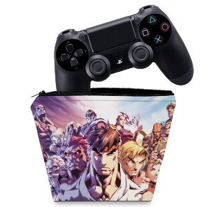 Capa PS4 Controle Case - Street Fighter