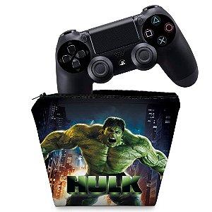 Capa PS4 Controle Case - Hulk