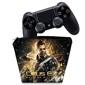 Capa PS4 Controle Case - Deus Ex: Mankind Divided
