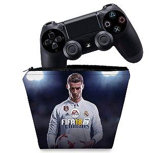 Capa PS4 Controle Case - Fifa 18