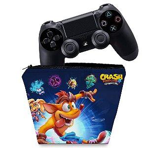 Capa PS4 Controle Case - Crash Bandicoot 4
