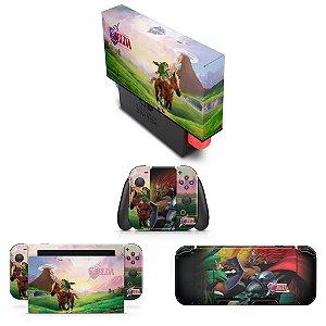 KIT Nintendo Switch Skin e Capa Anti Poeira - Zelda Ocarina Of Time