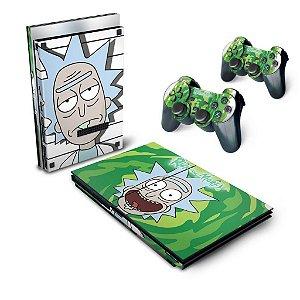 PS2 Slim Skin - Rick And Morty