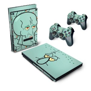 PS2 Slim Skin - Lula Molusco Bob Esponja