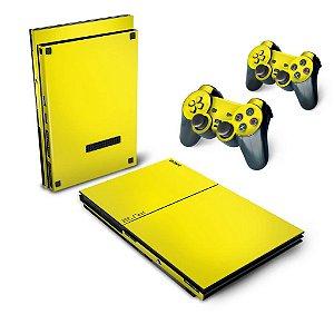 PS2 Slim Skin - Amarelo