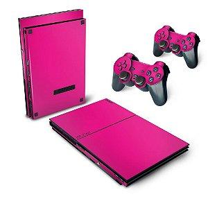 PS2 Slim Skin - Rosa
