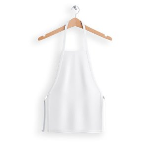 Avental Curto de Lona | Branco
