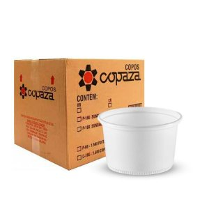 Pote Plástico 200ml | Copaza | Pacote com 50 Unidades