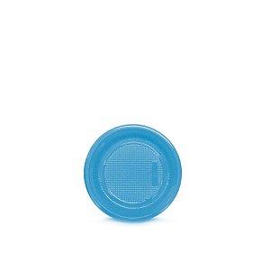 Prato Plástico Descartável | 15cm | Azul Claro | 10 Unidades