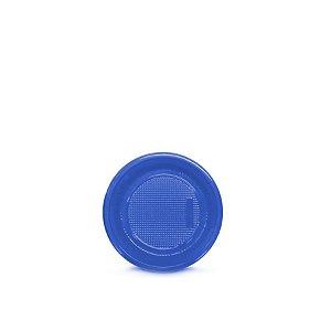 Prato Plástico Descartável | 15cm | Azul Escuro | 10 Unidades