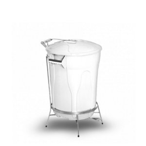 Lixeira Plástica com Pedal de Aço | 60L