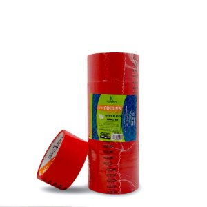 Fita Adesiva Colorida | 45mmx40m | Vermelha