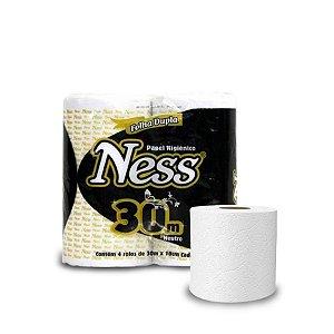 Papel Higiênico Folha Dupla 30m | Ness | Caixa com 64 Rolos