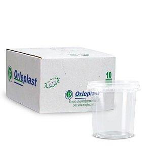 Pote Micro Redondo 1L | Orleplast | Caixa com 300 Unidades