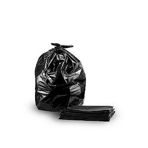 Saco de Lixo Preto | 40L | Pacote com 100 Unidades