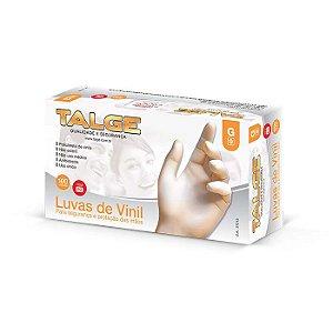 Luva de Vinil | Sem Pó | Tamanho G | Caixa com 100 Unidades
