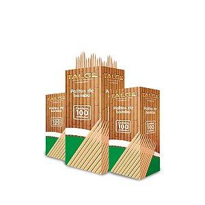 Palito de Dente de Bambu | Talge | 25 Caixinhas com 100 Palitos