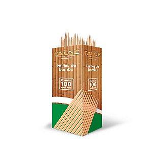 Palito de Dente de Bambu | Talge | Caixinha com 100 Palitos