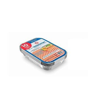 Marmitex Retangular de Alumínio 1.500ml | Thermoprat | 100 Unidades