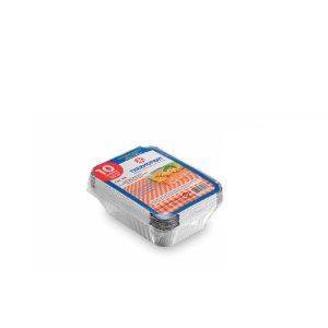 Marmitex Retangular de Alumínio 500ml | Thermoprat | 10 Unidades