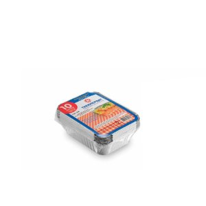 Marmitex Retangular de Alumínio 500ml | Thermoprat | 100 Unidades