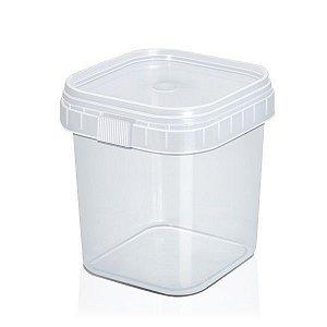 Pote Lacre Quadrado 220ml | Plastilania | Pacote com 10 Unidades