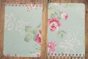 2 Blocos tecido Shabby Floral
