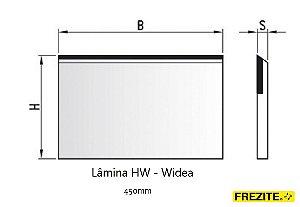 LÂMINA PARA APLAINAR EM HW - WÍDEA (450MM - ALTURA 30MM)