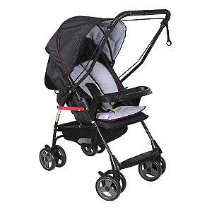 Carrinho de Bebê Milano Reversível II Preto Galzerano