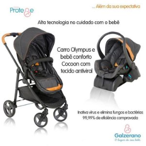 Carrinho Olympus e Bebê Conforto Protege - Galzerano