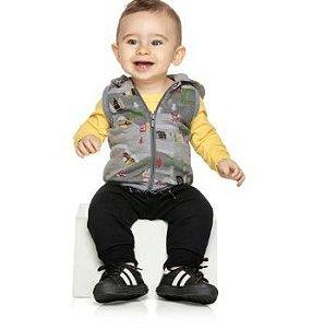 Conjunto bebê moletom blusa com colete e calça Elian (20759)