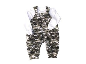 Jardineira bebê em moletinho camuflada Rockport (62646)