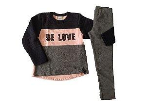 Conjunto menina em matelassê Be Love e legging forrada ELIAN (231454)