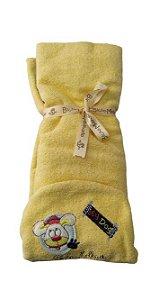 Toalha De Banho Bebê Com Capuz Bordada - Bicho Molhado 6710