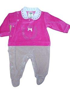 Macacão para bebê menina plush Beka (BK300)
