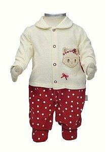 Macacão para bebê menina em plush Beka (BK369)